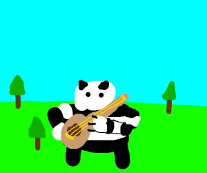 Panda Playing A Banjo