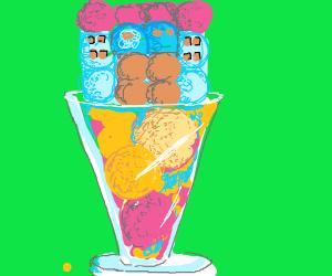 Ice cream castle.