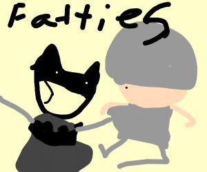 Fat Batman VS Fat Thor