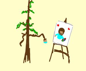 tree draws bob ross