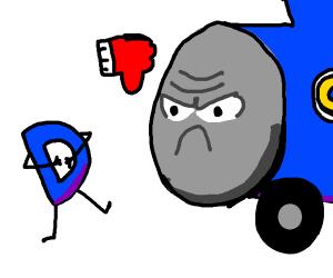 Thomas the train dislikes Drawception D