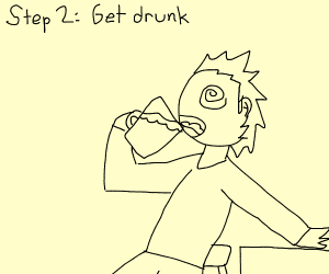 Step 1: Go to a bar