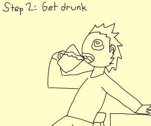 Step 1: Go to a bar