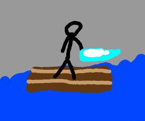 Man lost at sea