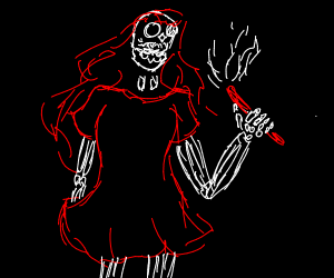 skeleton sorceress