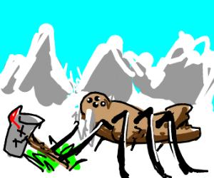 Walrus spider kills a mailbox