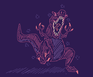 a angry dino (purple)