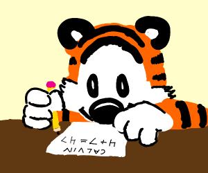 Hobbes doing Calvin's homework