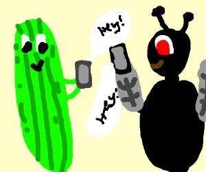 Cucumber and Fly message each other