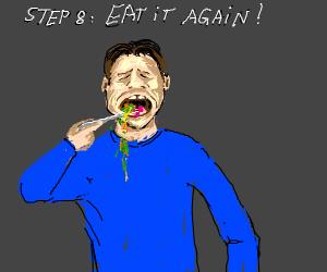 Step 7: Spit them back out