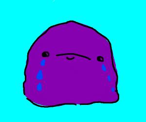 Purple blob crying