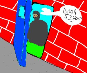 oof shouldnt open the door