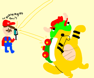 mario regrets killing bowser by heat stroke