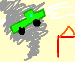 Truck in a Tornado