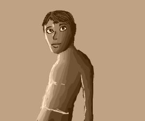 a green boy