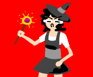 A very angry witch