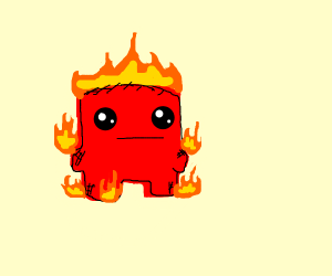 meatboy burning