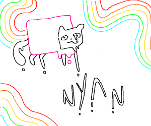 Nyan Cat but Misshapen