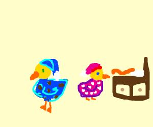 ducks in pajamas