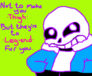 Sans with thunder thighs