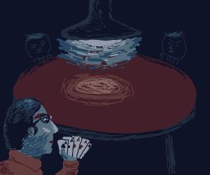 Nerd has cards needed to win poker