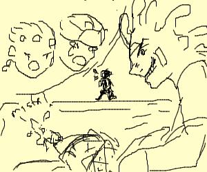 Cicoccolatta (JoJo Bad Guy) dragging someone