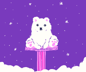 Polar Bear on a Pink Pedestal