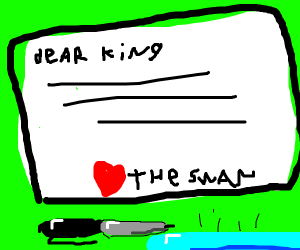 swan writes letter to king