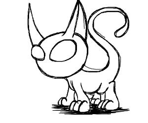 cute alien cat