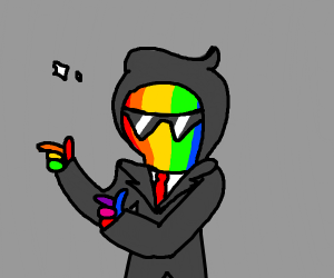 Cool Rainbow Suit Guy