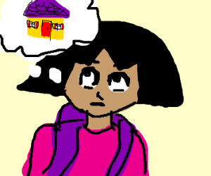 Dora the exproler thinking about home