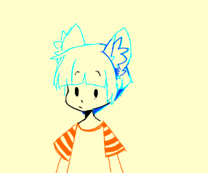 blue-haired cat boy