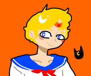 Gender-bent Sailor Moon
