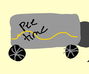 pee truck (truck filled with pee)