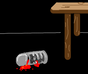 Dropped soup can spills blood