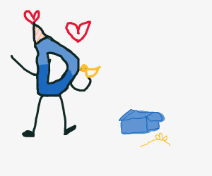 drawception d got a free duck and loves it