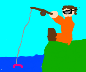 Fisherman with Glasses