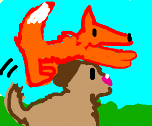 Fox Jumps Over Dog
