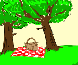 Trees on a picnic