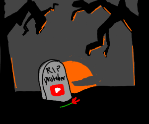 A grave for a youtuber