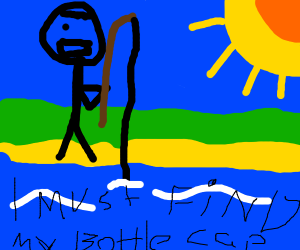 Fishing for a Bottle Cap