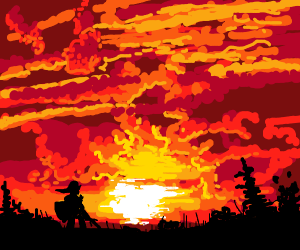 Link watches Sunset