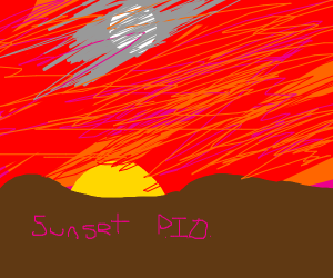 Sunset PIO (Pass it on) (Nice Drawing btw)