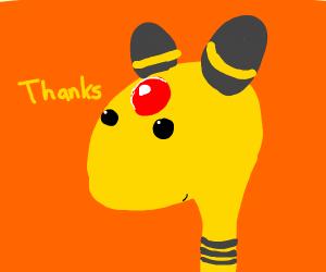 Ampharos??? says thanks (pokemon)