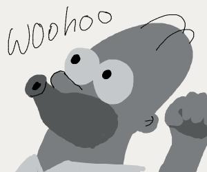 Homer Celebrating