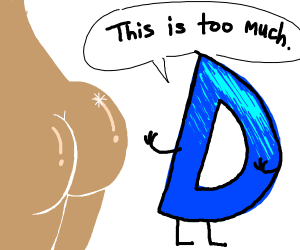 Drawception logo talks to your butt