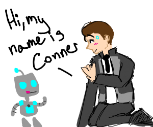 Gir from Invader Zim meets Connor from D:BH