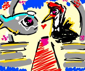 Whale marrying Woodpecker