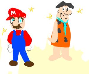 A Fred Flintstone/Mario mashup.  Kawaii.