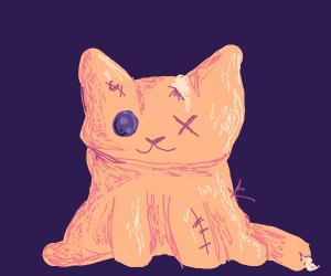 Old cat plush